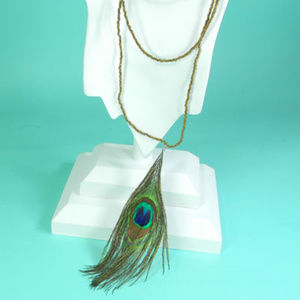 🆕 Peacock Feather Necklace